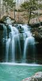 Cascading water fall
